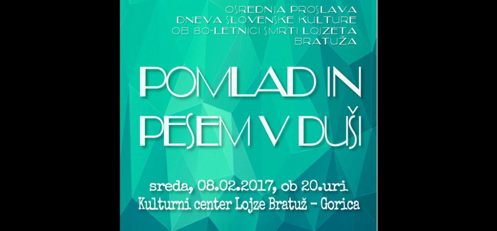 Osrednja proslava ob dnevu Slovenske kulture 2017