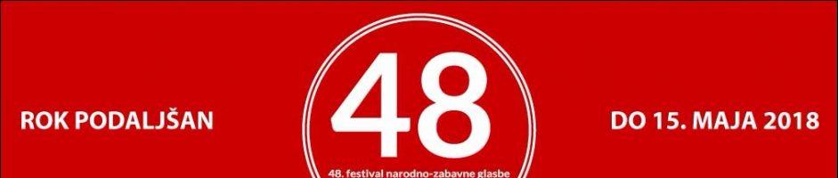 Festival 2018 – Rok prijave podaljšan do 15. maja